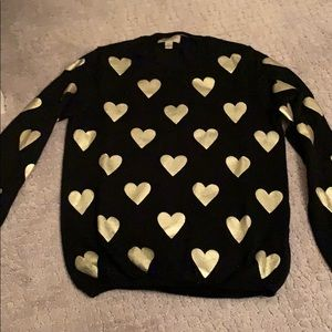 NEW Burberry black/gold heart sweater